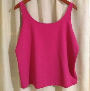 Chico's Hot Pink Tank Adjustable Straps XL